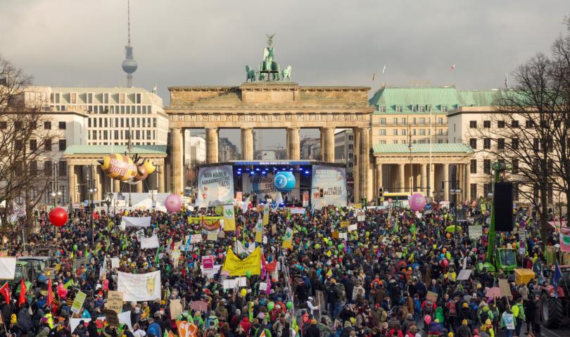 Wir haben es satt: Demo in Berlin 2018. Foto: © Alexander Puell / www.wir-haben-es-satt.de