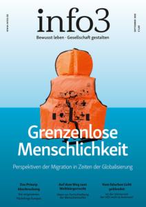 Grenzenlose Menschlichkeit. Zeitschrift Info3, Ausgabe September 2018