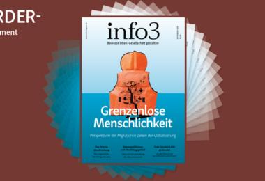 Förder-Abo der Zeitschrift Info3. © Info3 Verlag, Janka Fischer 2018