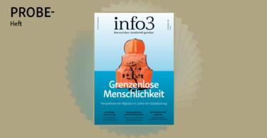Probeheft der Zeitschrift Info3. © Info3 Verlag, Janka Fischer 2018