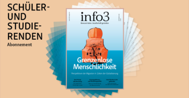 Schüler- und Studierenden-Abo der Zeitschrift Info3. © Info3 Verlag, Janka Fischer 2018