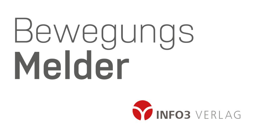 Info3 Bewegungsmelder. © Info3 Verlag 2018