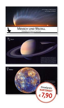 Postkartenset Mensch und Weltall