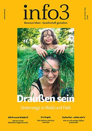 Zeitschrift info3, Ausgabe Juli/August 2019. © Info3 Verlag