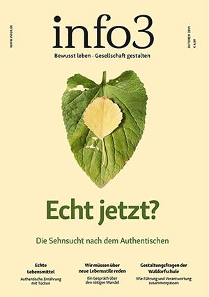 Zeitschrift info3, Ausgabe Oktober 2019. © Info3 Verlag