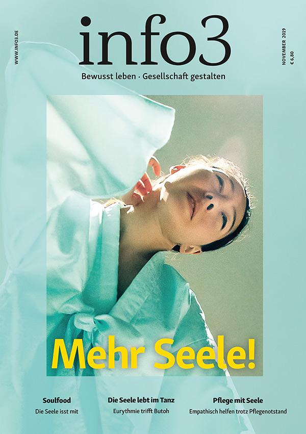 Zeitschrift info3, Ausgabe November 2019. ©Info3 Verlag