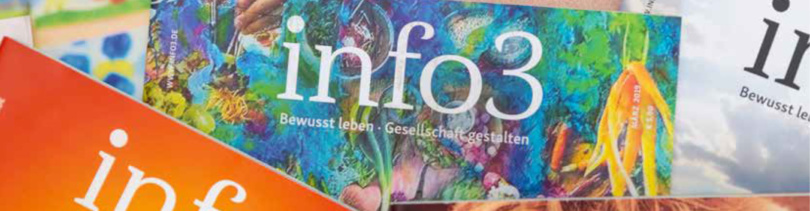 Anzeigenabteilung Zeitschrift info3. © Info3 Verlag