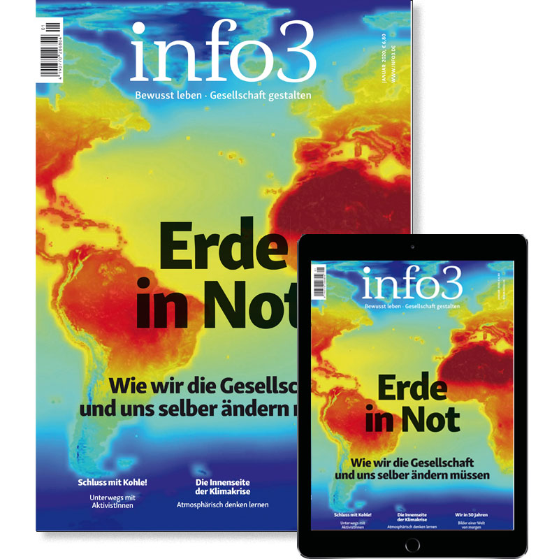 Förder-Abo, Zeitschrift info3. © Info3 Verlag