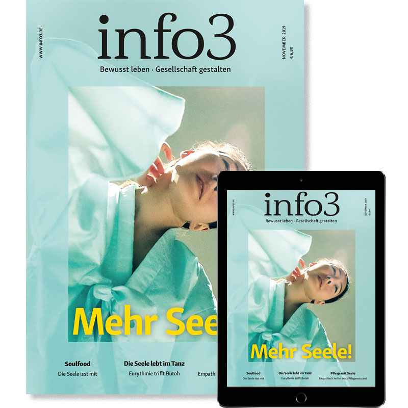 Geringverdiener-Abo, Zeitschrift info3. © Info3 Verlag