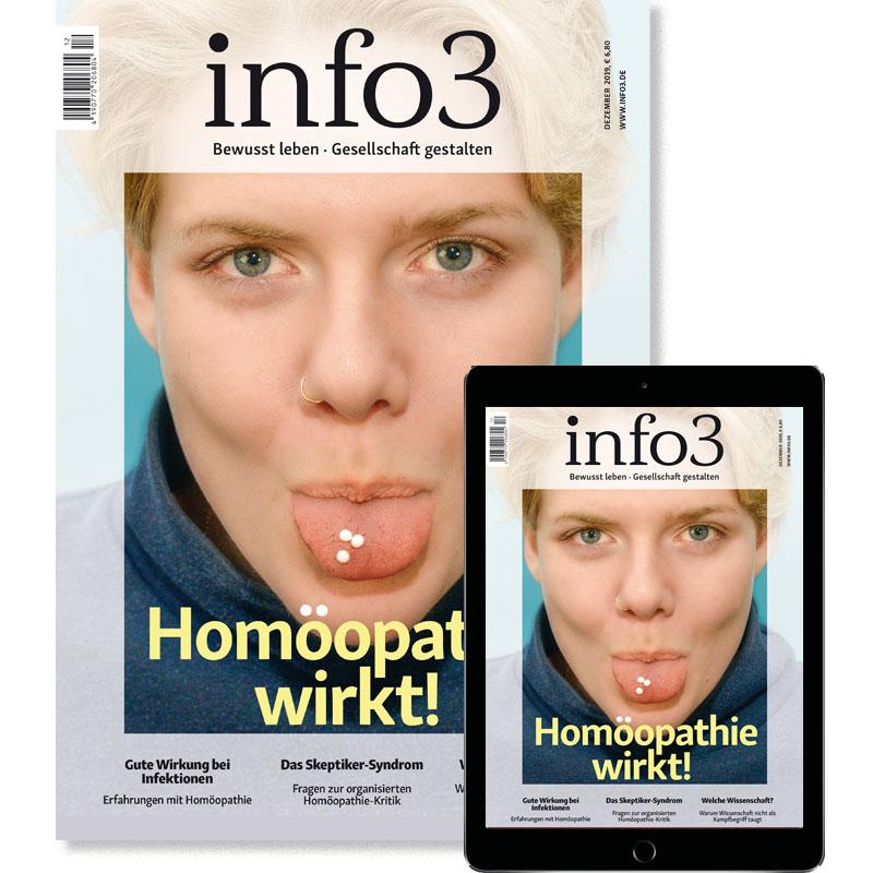 Geschenk-Abo, Zeitschrift info3. © Info3 Verlag