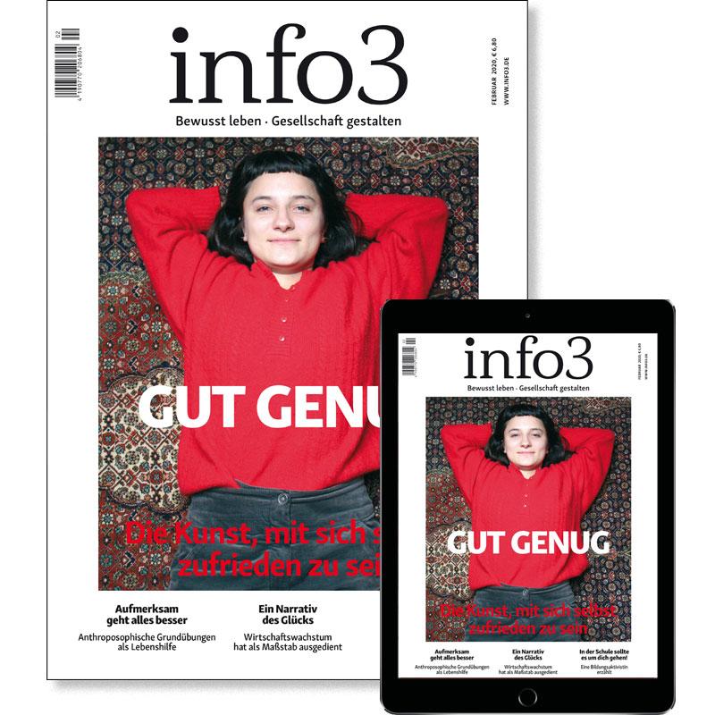 Kennenlern-Abo, Zeitschrift info3. © Info3 Verlag