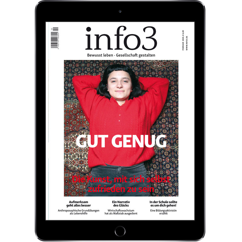 Online-Abo, Zeitschrift info3. © Info3 Verlag