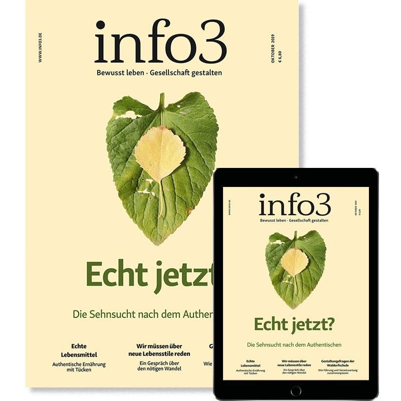 SchülerInnen- und StudentInnen-Abo, Zeitschrift info3. © Info3 Verlag