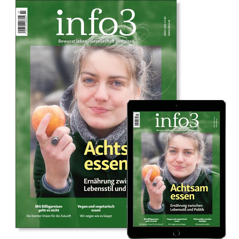 Reguläres Abo, Zeitschrift info3. © Info3 Verlag