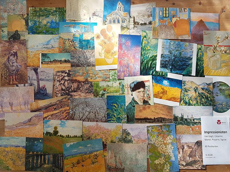 Postkartenset Impressionisten