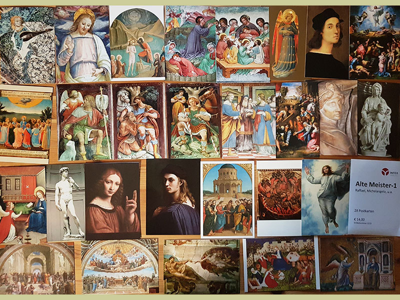 Postkartenset Alte Meister. © Info3 Verlag