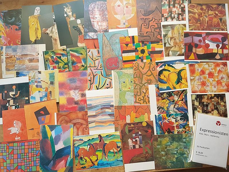 Postkartenset Expressionisten. © Info3 Verlag