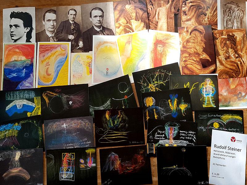 Postkartenset Rudolf Steiner - Aus dem künstlerischen Werk. © Info3 Verlag