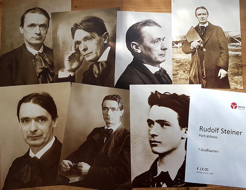 Postkartenset Rudolf Steiner - Porträtfotos. © Info3 Verlag