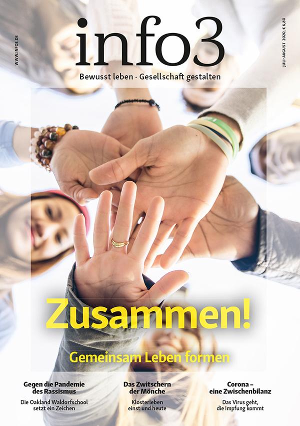 Zeitschrift info3, Ausgabe Juli/August 2020. © Info3 Verlag