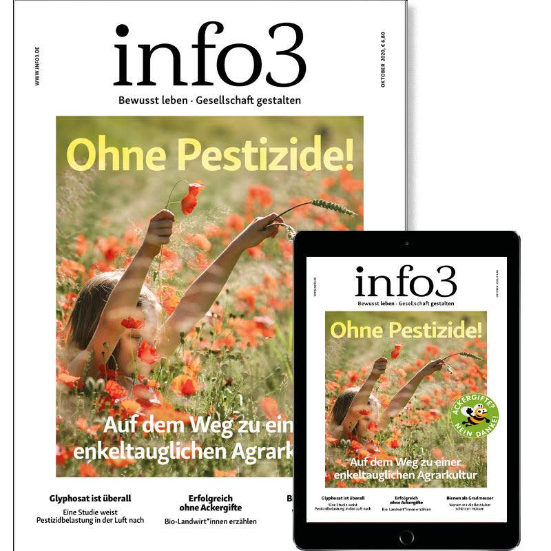Zeitschrift info3, reguläres Abo. © Info3 Verlag